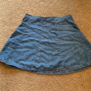 AEO denim skirt